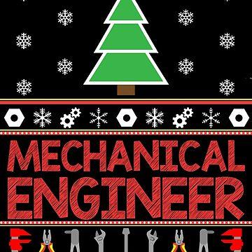 Mechanical Engineer Christmas Jumper by EngineeringMind