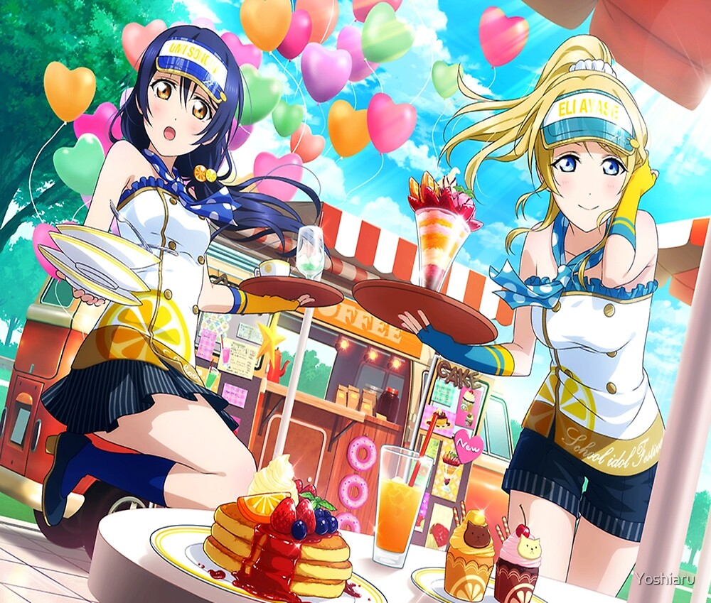 Let's stay sweet, Arisa~ - Umi and Eli April UR Pair by Yoshiaru