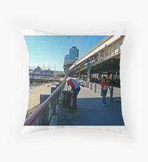 LOOKING FOR BREAKFAST ON THE OTHER SIDE Throw Pillow