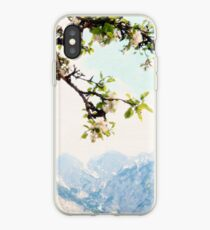 Apple Blossoms and Mountains  iPhone Case