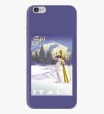 Vintage Italian Ski sport poster, ski italy iPhone Case
