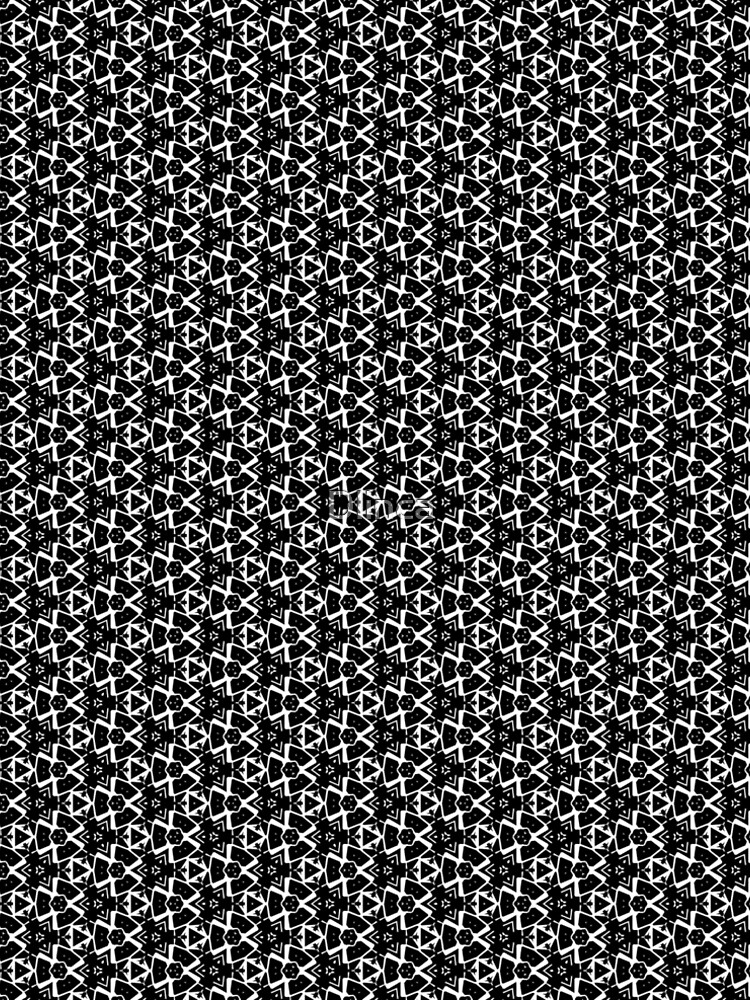 Small Abstract Black and White Pattern Design by Dlinca
