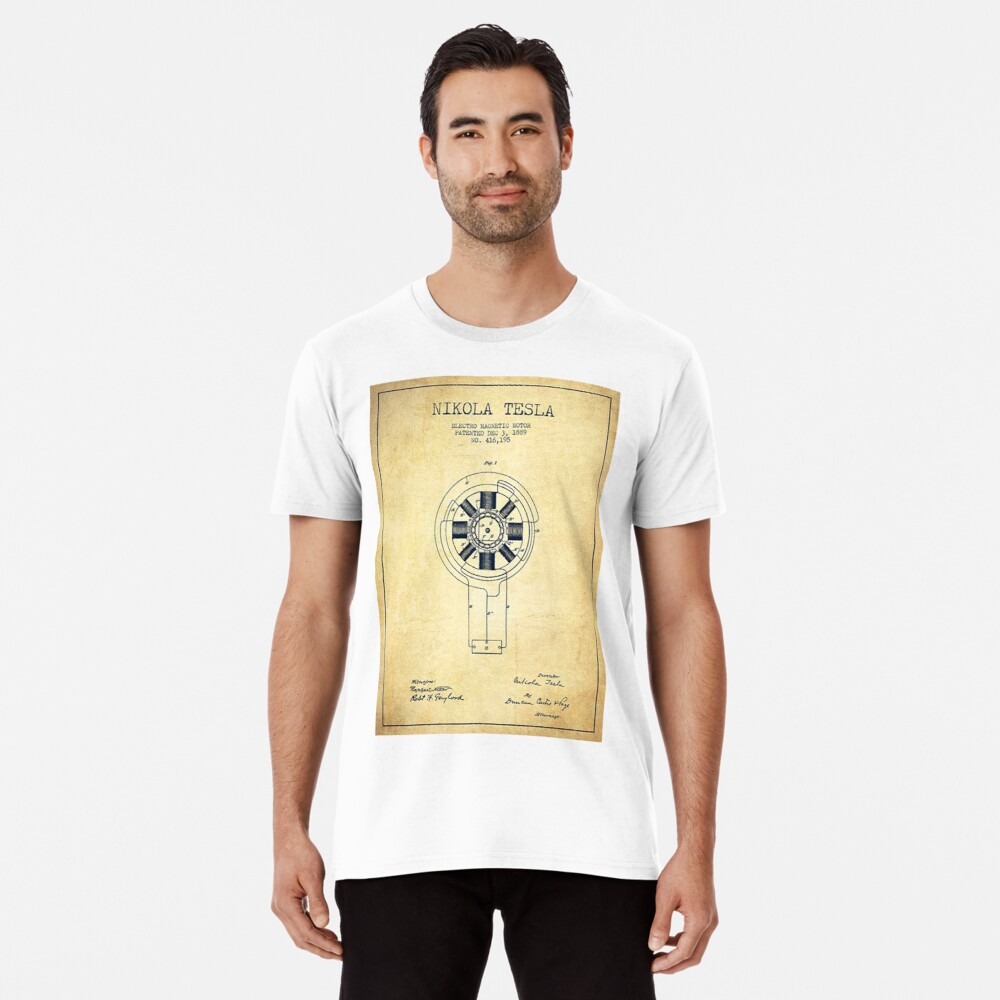 Nikola Tesla Inventor Shirt Men's Premium T-Shirt Front