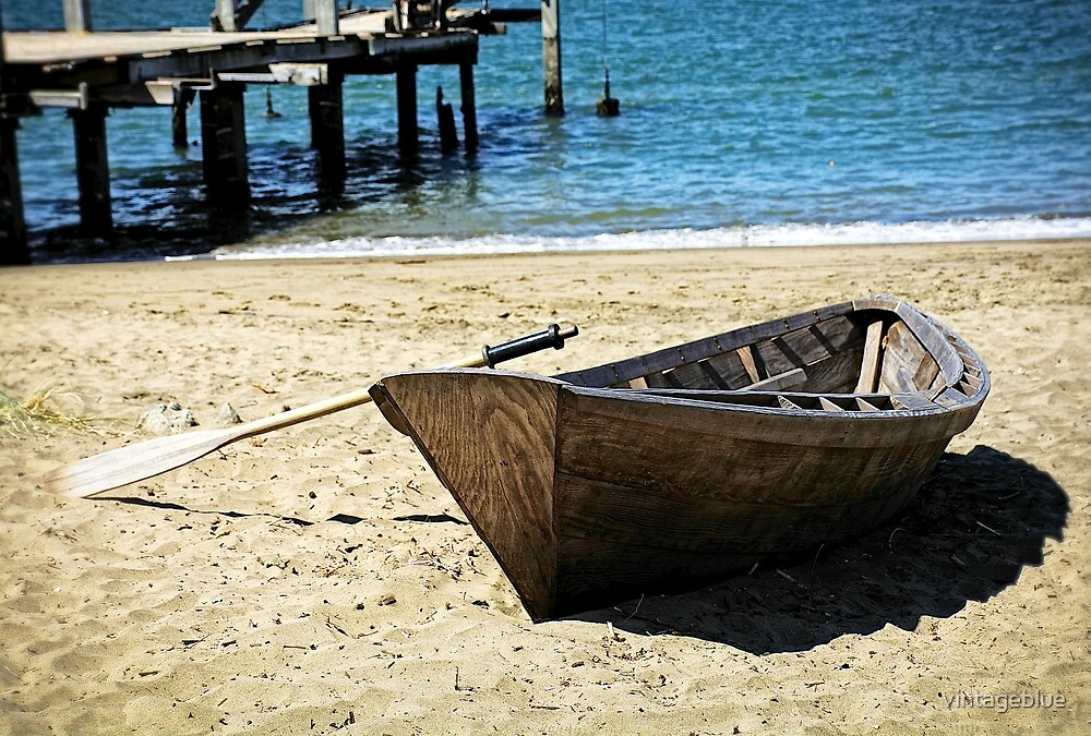 Wooded Boat  by vintageblue