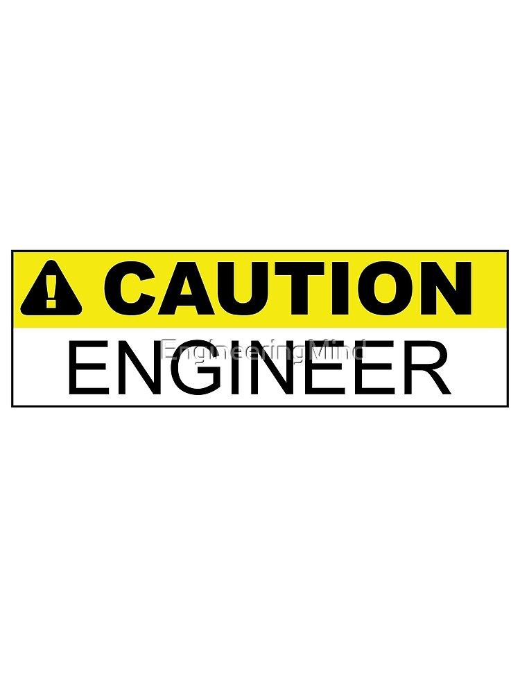 Caution Engineer Sticker by EngineeringMind