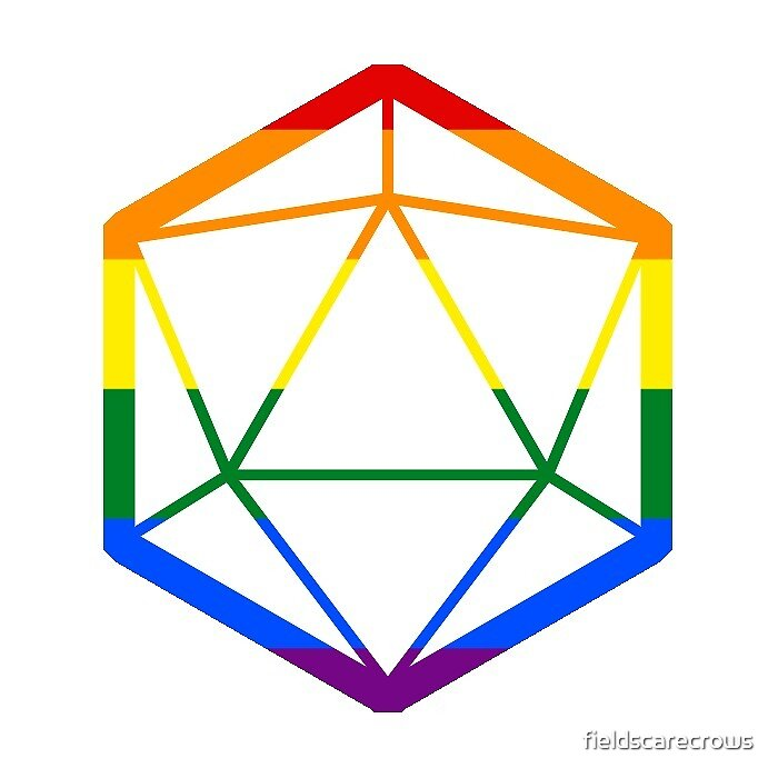 D20 Gay flag by fieldscarecrows