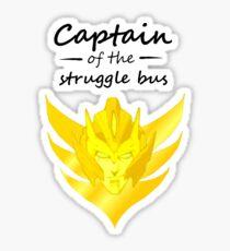 Captain of the Struggle Bus Sticker