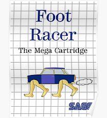 Foot Racer 8-Bit Poster