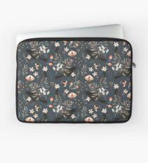 Black Crow and Butterflies Laptop Sleeve