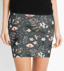 Black Crow and Butterflies Mini Skirt