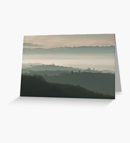 Landscape in Piemonte Greeting Card