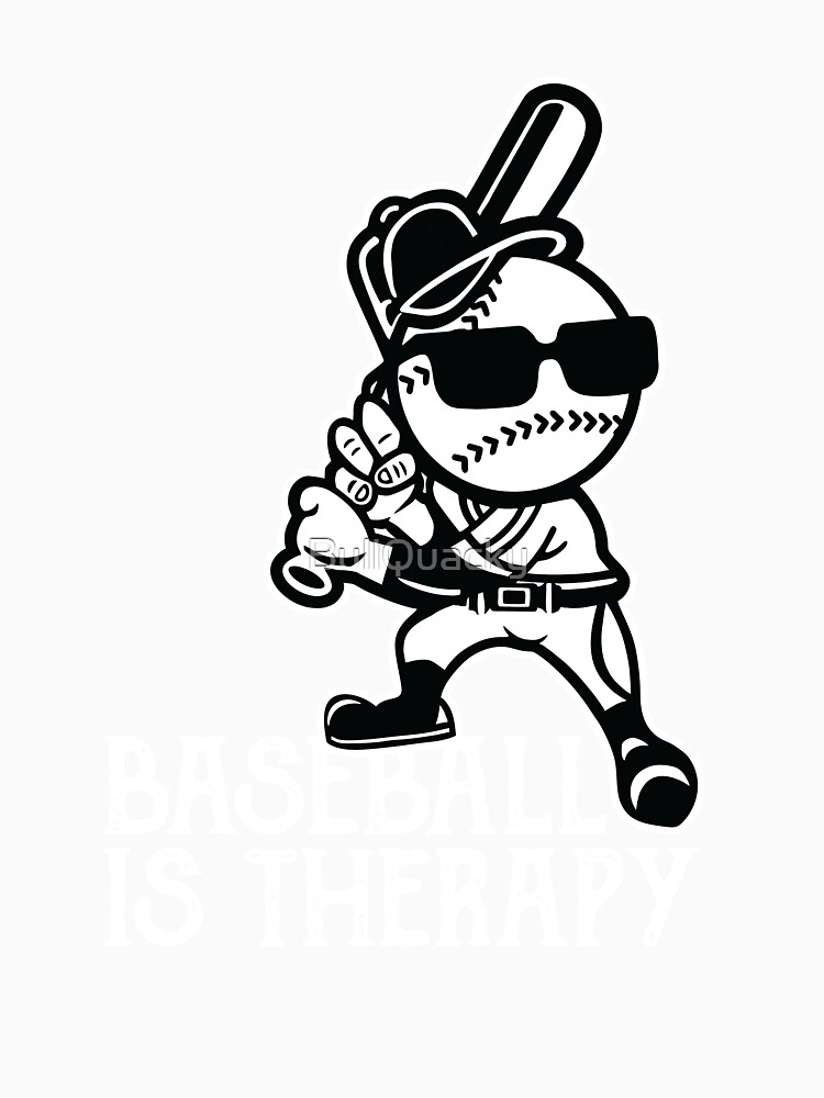 Baseball Is Therapy - Sports Athlete Player by BullQuacky