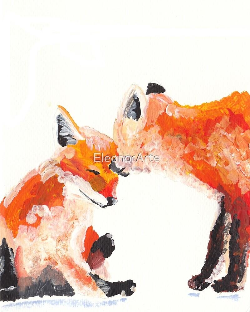 Sweet foxes by EleonorArte
