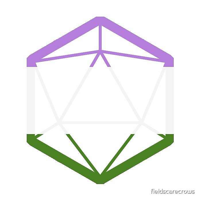 D20 Genderqueer flag by fieldscarecrows