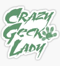 Pegatina Crazy Gecko Lady Green