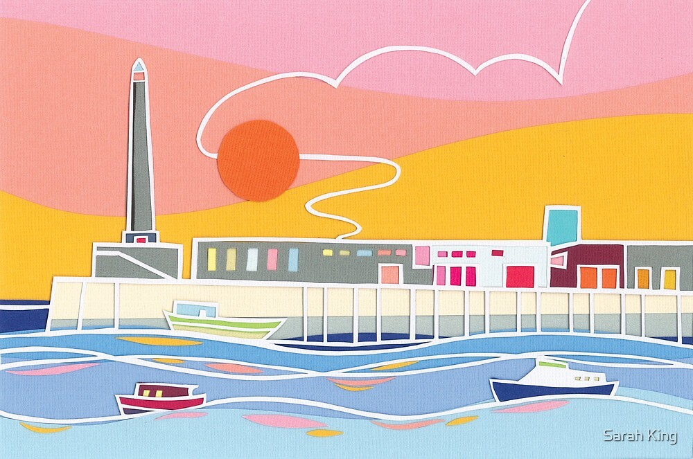 Margate Harbour Sunset by Sarah King