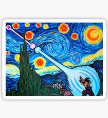 Van Gogh -ku / Goku Vs. Vegeta Dragon Ball Z Starry Night Sticker