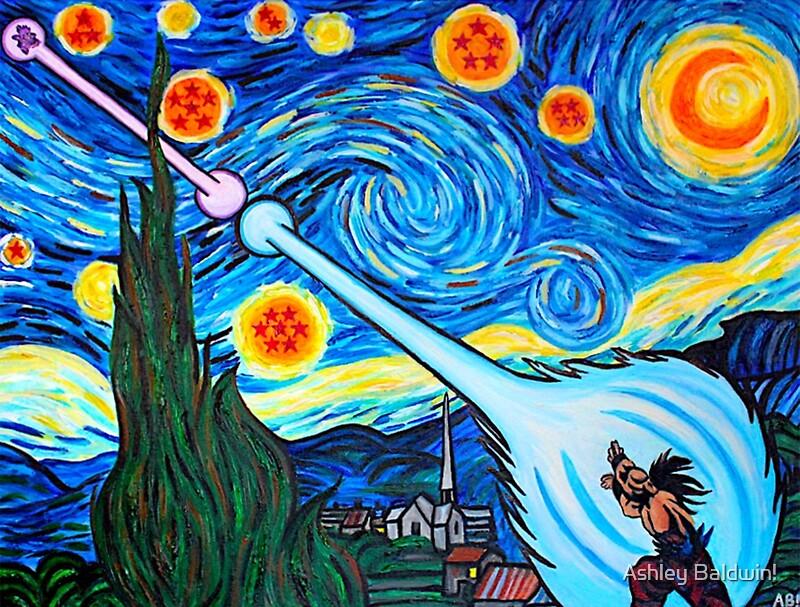 Van Gogh -ku / Goku Vs. Vegeta Dragon Ball Z Starry Night\