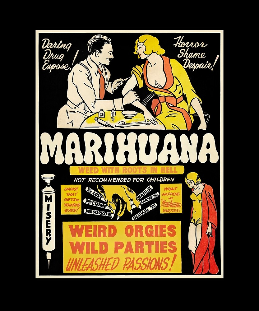 """Marihuana - weed with roots in hell."" by STYLESYNDIKAT"