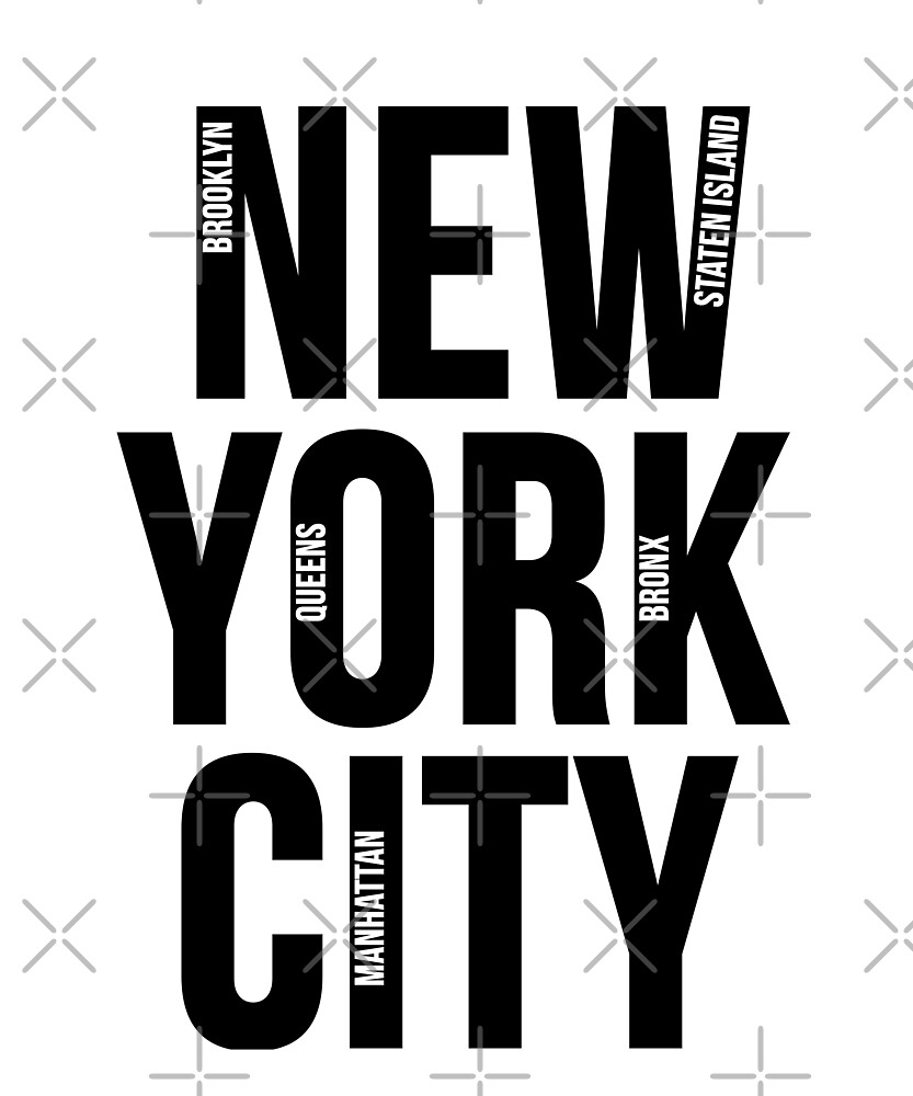 Nyc Apparel Collection Geography New York City Five Boroughs Map