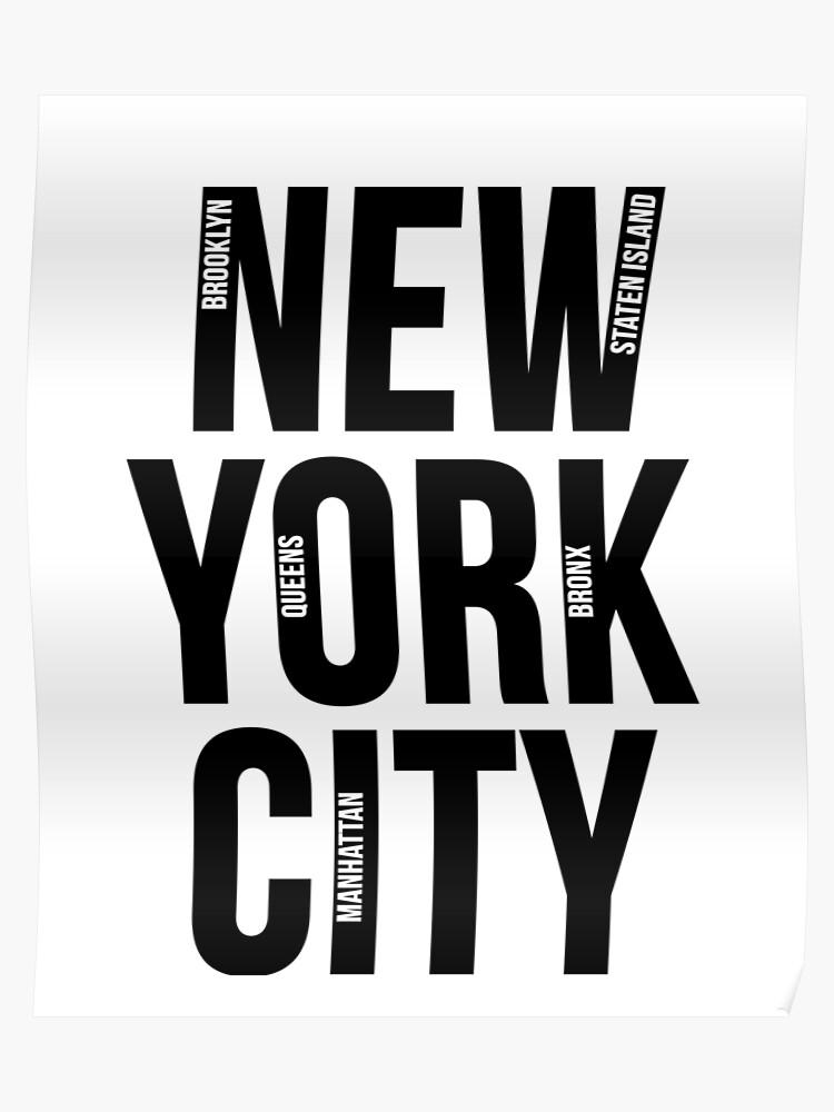 Boroughs Map New York City on