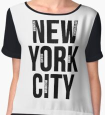 NYC Apparel Collection Geography New York City Five Boroughs Map Design Chiffon Top