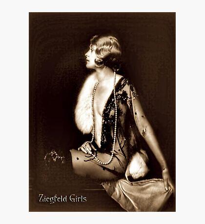 Ziegfeld girl - Muriel Finlay Photographic Print