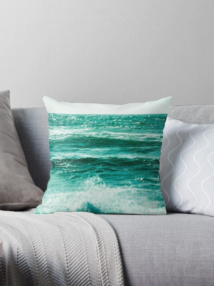Ocean Melody - Dark Green Sea Waves by artcascadia