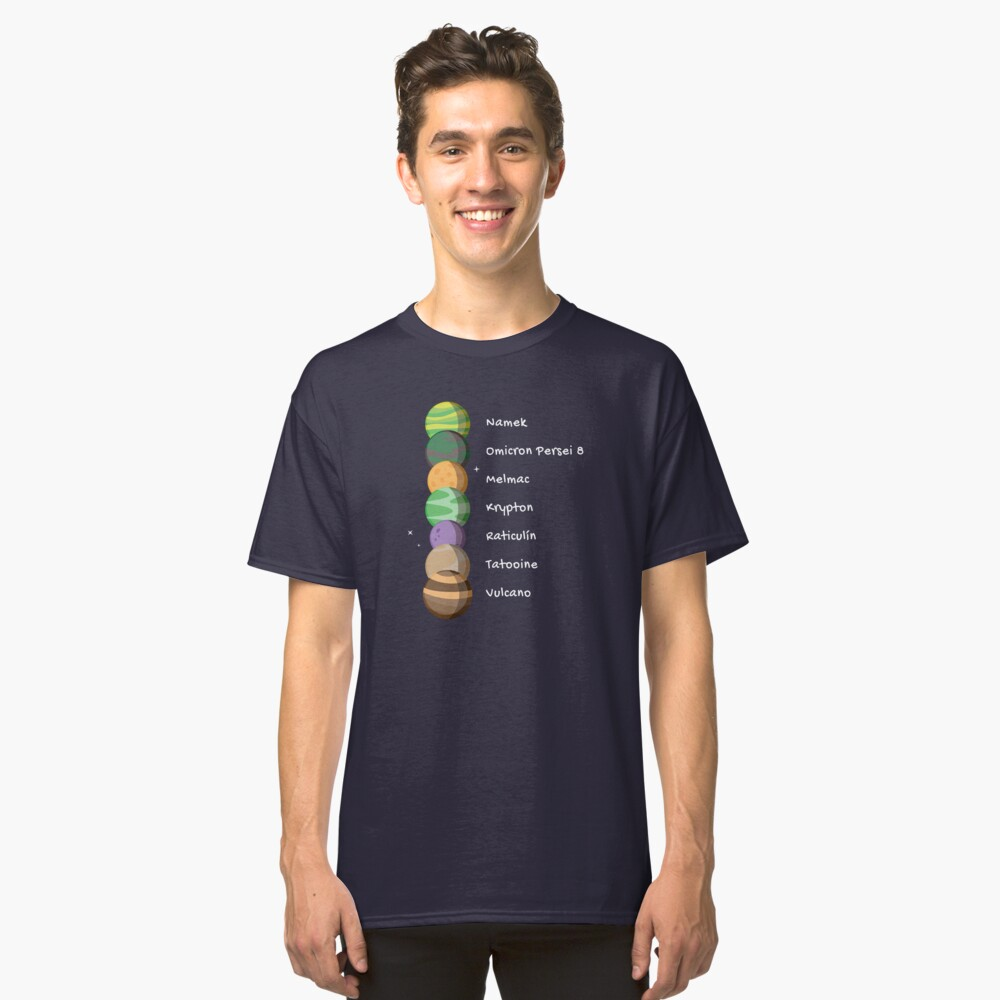 Seven Planets Classic T-Shirt Front