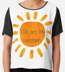 05e7f1107 You are my sunshine Chiffon Top