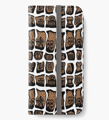 Blanc et noire iPhone Wallet