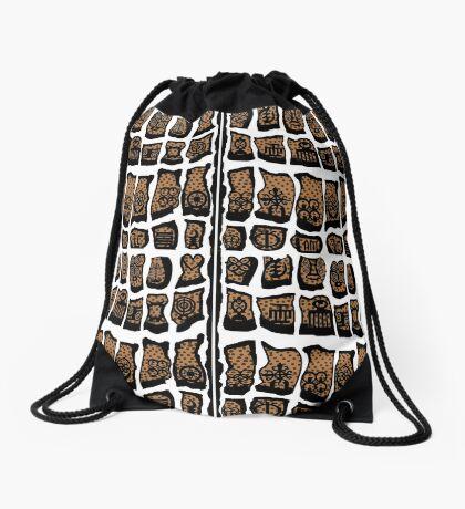 Blanc et noire Drawstring Bag