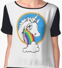 Drunk Unicorns Make Rainbows! Women's Chiffon Top