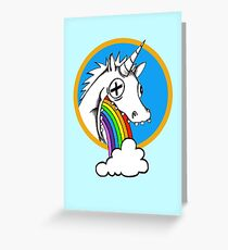 Drunk Unicorns Make Rainbows! Greeting Card