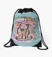 Life's Purrvect! Drawstring Bag
