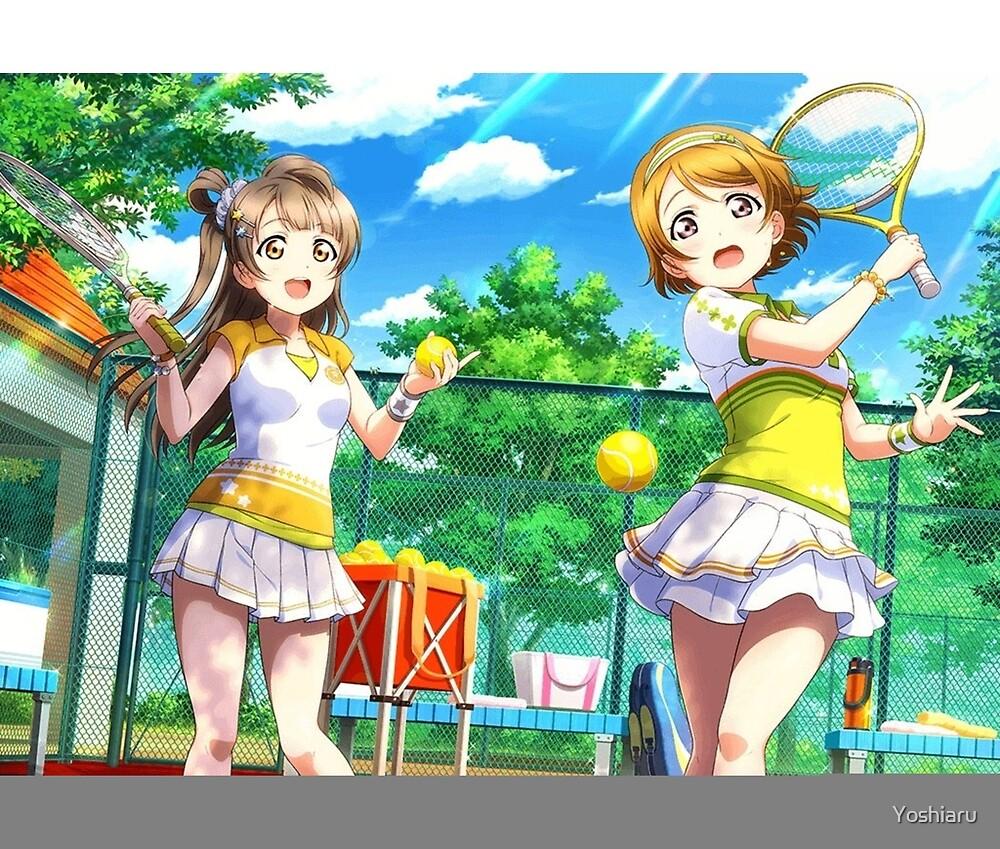 I'm getting tired! - Tennis Hanayo and Kotori UR Pair by Yoshiaru