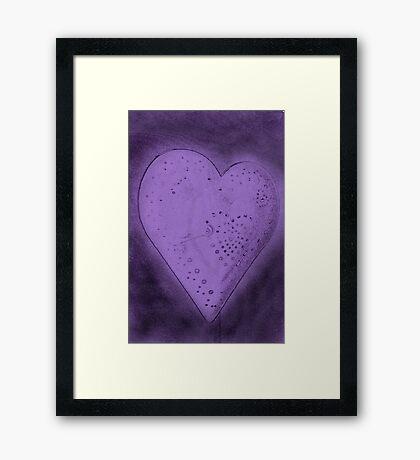 Purple Heart Framed Print