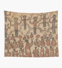 Wurundjeri People Charcoal Drawing by Australian William Barak Wall Tapestry