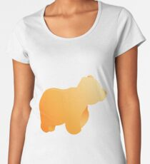 Bear Print Women's Premium T-Shirt