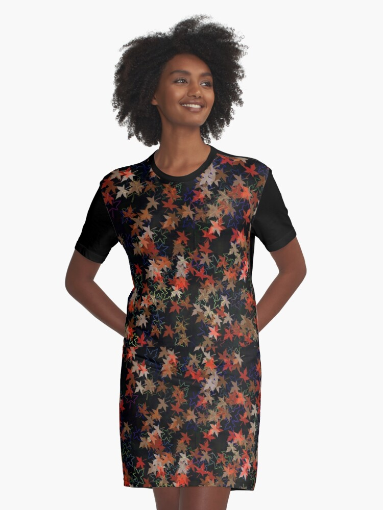Feast of the fall foliage Graphic T-Shirt Dress Front