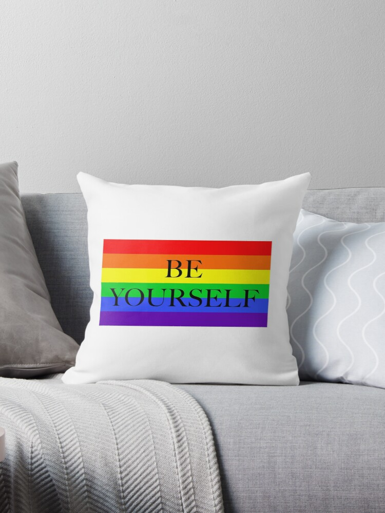 Large Pride Flag with Be Yourself by litmusician