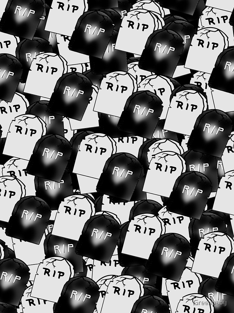 Black and White Tombstones by Greenbaby