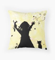 She Dreams of Magic in the Moon Throw Pillow
