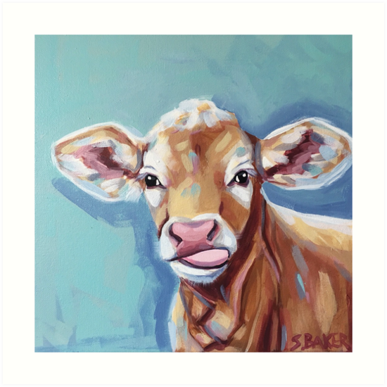 Buttercup the Hereford Cow by ThePinkPinecone