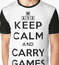 Keep Calm and Carry Games Graphic T-Shirt