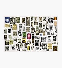 Vintage Victorian food cans collage Photographic Print