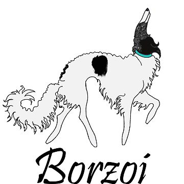 Black White Brindle Borzoi  by tcarey