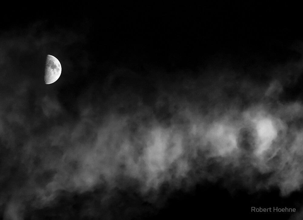 Moon Over Clouds by Robert Hoehne