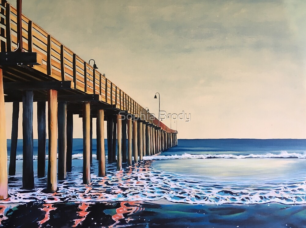 Cayucos pier  by Sophia Brody
