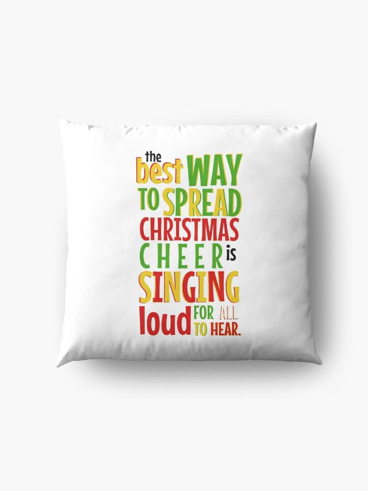 Alternative Ansicht von Der beste Weg, Weihnachten Cheer zu verbreiten ... Bodenkissen
